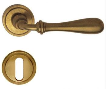 Valli & Valli serie H 1004 Antares Maniglia per porta interna rosetta bocchetta normale Ottone Naturale