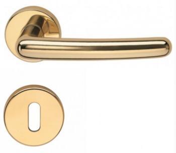 Valli & Valli serie H 163 Sarissa Maniglia per porta interna rosetta bocchetta foro normale Cromo satinato