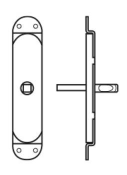 Valli & Valli accessorio per cremonese per finestre movimento solo quadro 7 mm
