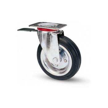 AVO Valsecchi ruota piastra girevole mm 100 freno kg 80