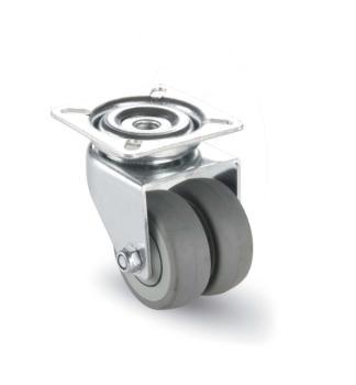 AVO Valsecchi ruota gomma grigia doppia diametro mm 50