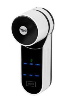 Serratura digitale Yale ENTR� starter kit standard con radiocomando 80/35 mm