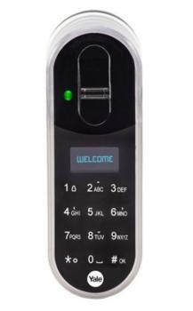 Serratura digitale Yale ENTR™ starter kit standard con radiocomando e lettore impronte digitali 35/55 mm