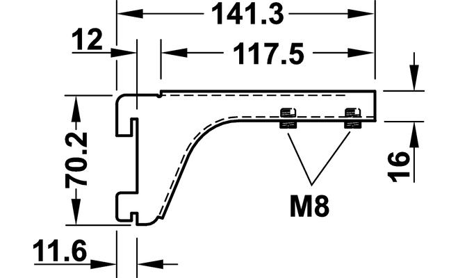 Reggimensola per piano in vetro bianco 12 x 73 mm for Element system mensole