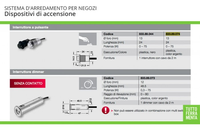 dispositivi di accensione Luce LED