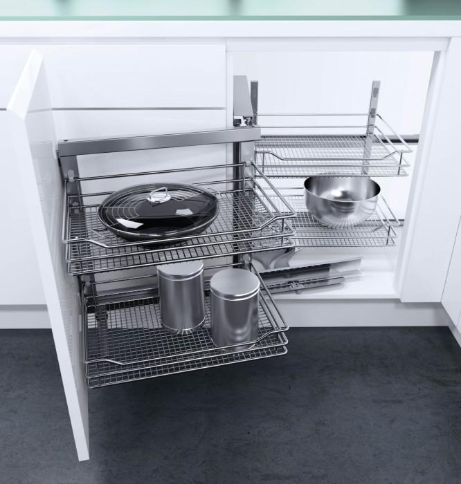 telaio waco meccanismo estraibile per mobili base ad angolo ... - Cestelli Estraibili Per Cucine
