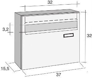 Cassetta postale alubox venere formato rivista acciaio inox colore argento - Cassetta postale design ...