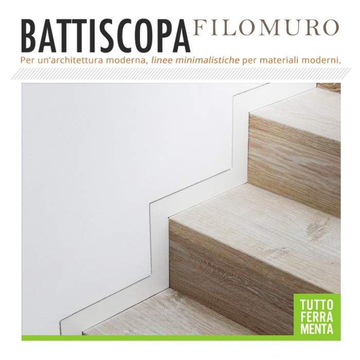 Battiscopa filomuro tuttoferramenta for Battiscopa filo muro