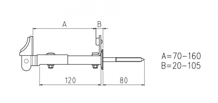 Fermascuro stilizzato ferramenta per persiane e scuri for Scheda tecnica anta ribalta giesse