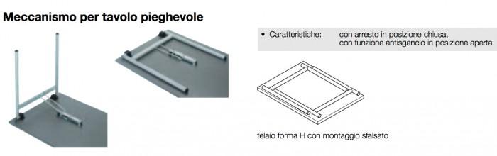 Meccanismi Per Tavoli Pieghevoli.Set Gambe A T Meccanismo Per Tavolo Pieghevole Bianco Alluminio 610