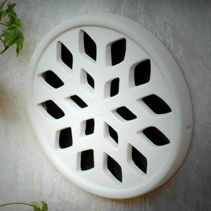Griglia aerazione design airdecor snow 100 mm bianca gres porcellanato - Griglie di aerazione design ...