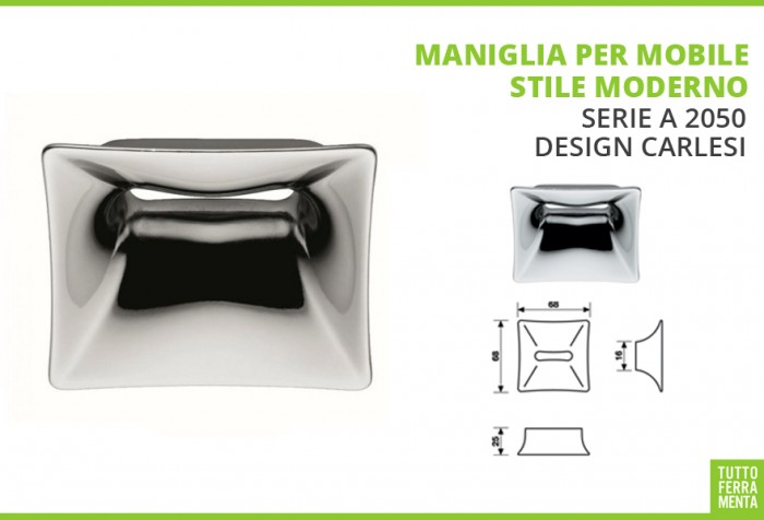 Maniglie per mobili valli valli tuttoferramenta - Maniglie quadrate per mobili ...