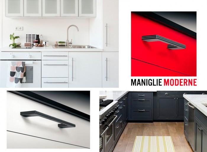 Maniglieria moderna maniglie per mobili moderni - Maniglie quadrate per mobili ...