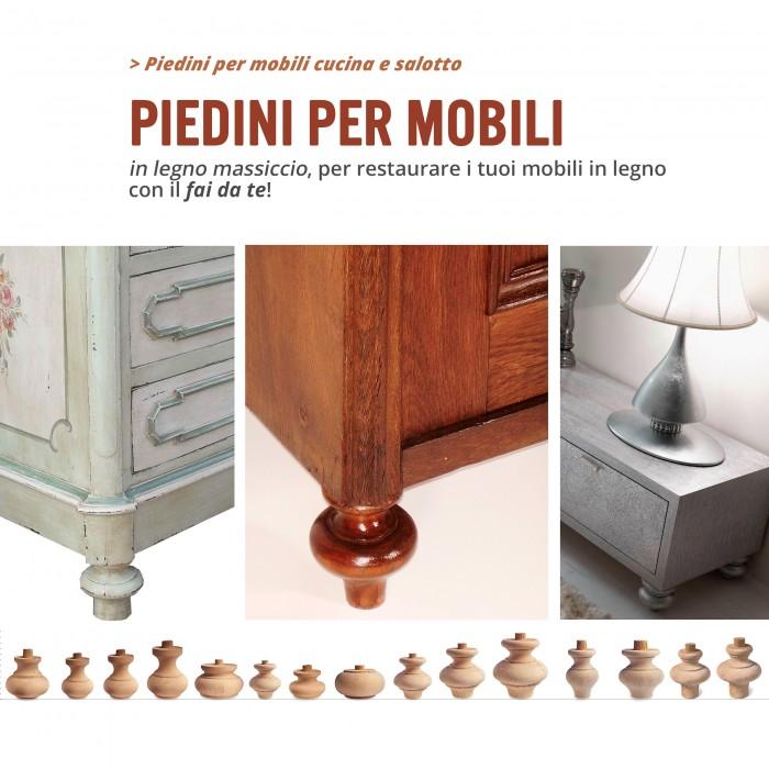 Piedini e colonnine in legno per mobile ferramenta per mobile - Tipi di legno per mobili ...