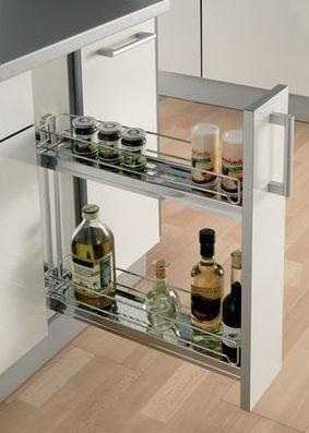 Portabottiglie per mobile cucina estraibile Modulo 150 mm Acciaio ...