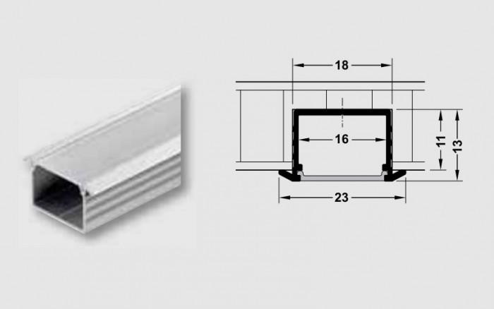 Profilo ad incasso accessori per strisce led flessibili - Strisce led per mobili ...