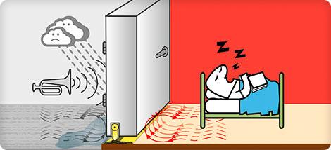 Soglia parafreddo e paraspifferi ulisse light e drip per - Paraspifferi per finestre ...