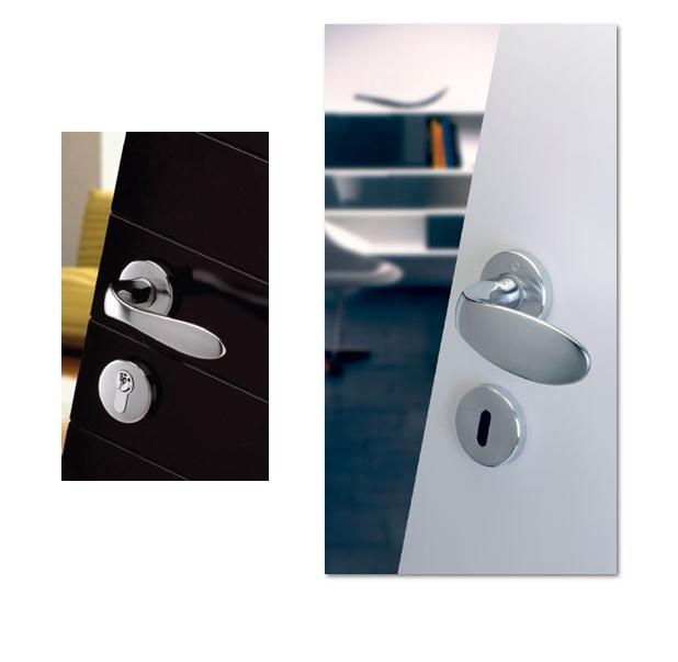 Maniglia per porte e finestre dk in ottone hoppe serie genova - Porte e finestre genova ...