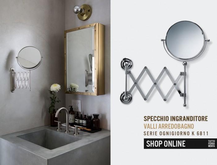 Specchi Ingranditori Da Parete.Specchio Ingranditore Valli Arredobagno Serie Ognigiorno K 6811