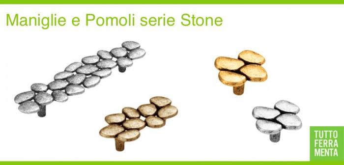 Maniglie e pomelli per mobili stone collection le for Maniglie design