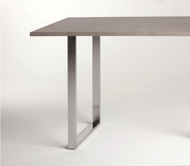 Telaio per tavolo o penisola a serie t 10 dimensioni 870 x 900 mm ral 9006 semiopaco - Penisola tavolo ...