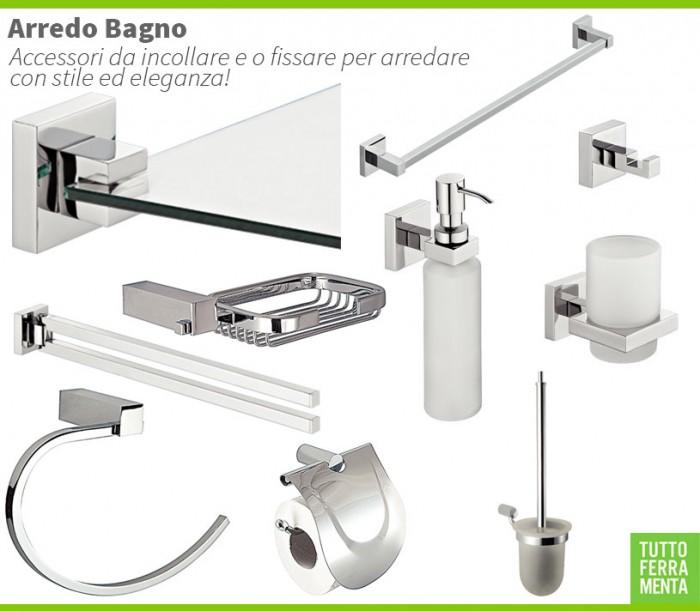 Arredo bagno e accessori bagno da incollare o fissare for Accessori per bagno