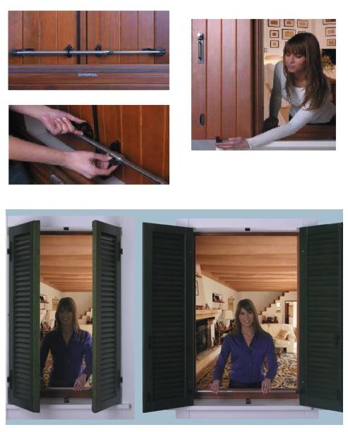 Fermascuro antiscasso a barra estendibile 1250 mm a 1300 - Finestre fai da te ...