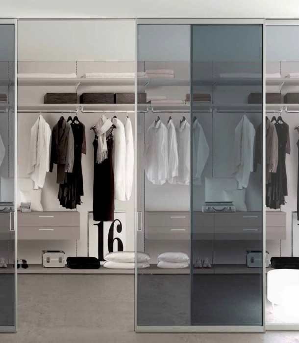 Sistema doal anta legno vetro sospeso tuttoferramenta - Porte scorrevoli per cabina armadio ...