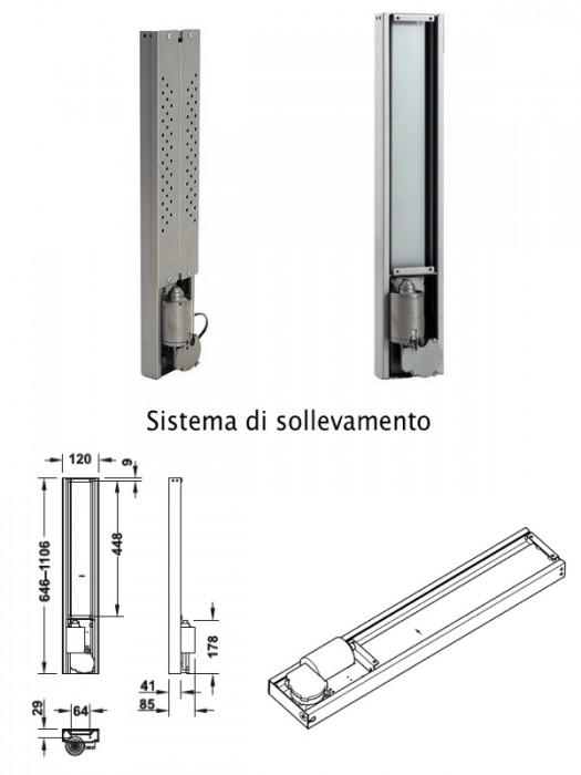 Meccanismo per sistema di sollevamento elettrico per - Portata golfari di sollevamento ...