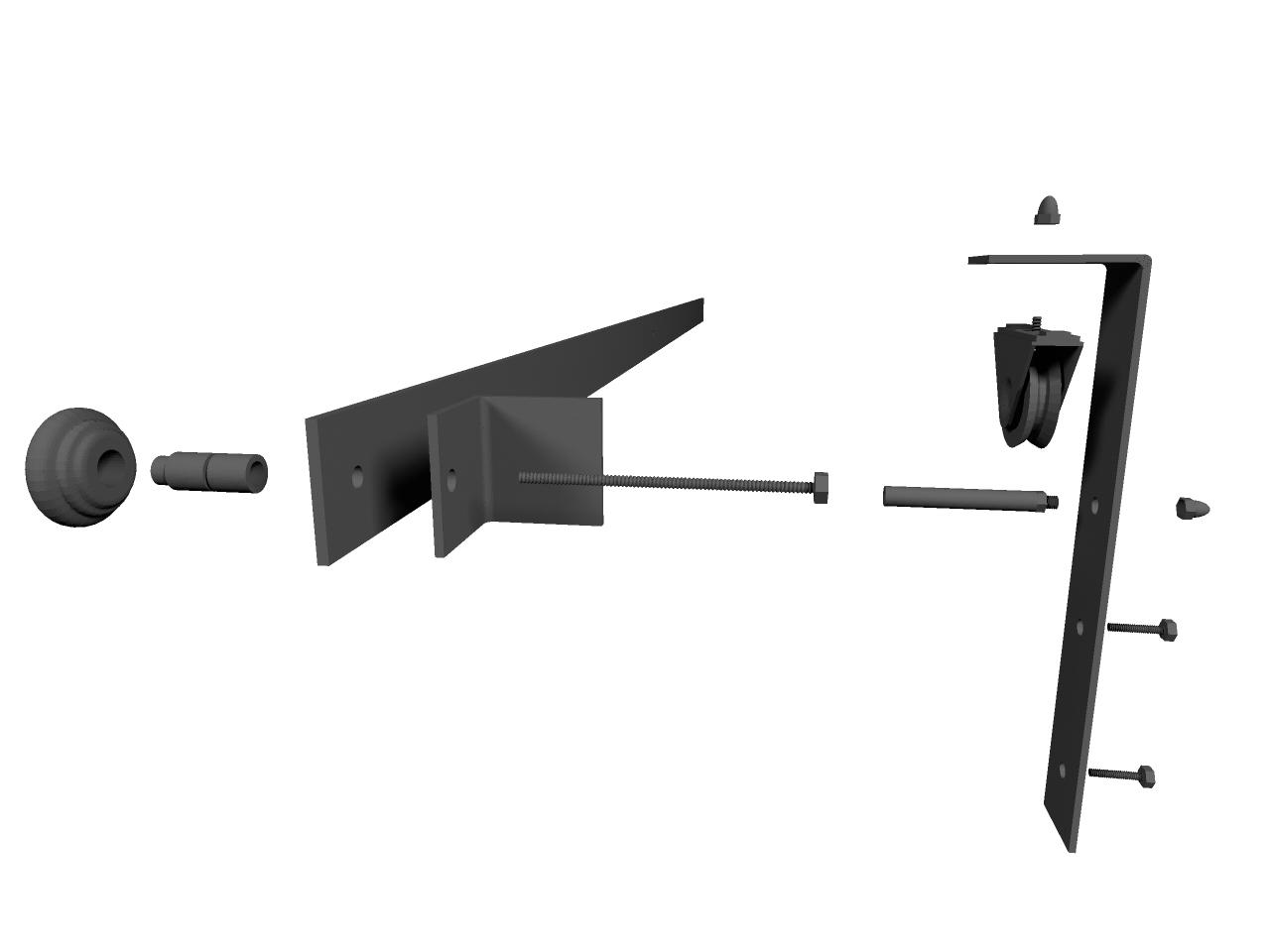 Kit Binario per Porta Scorrevole Le Fabric 3000 mm,in ferro stile ...