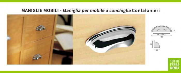 Maniglie mobili maniglia per mobile a conchiglia - Maniglie quadrate per mobili ...