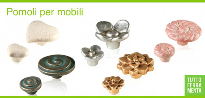 Pomelli e maniglie in ceramica per mobili le fabric tuttoferramenta - Pomelli colorati per mobili ...