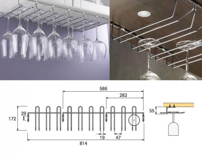 Porta calici da parete og85 pineglen for Piani di casa sotto 500 piedi quadrati