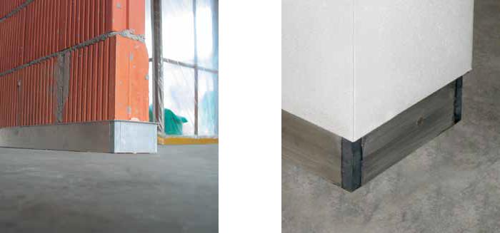 Battiscopa ags system filomuro profilo battiscopa for Porte filo muro cartongesso