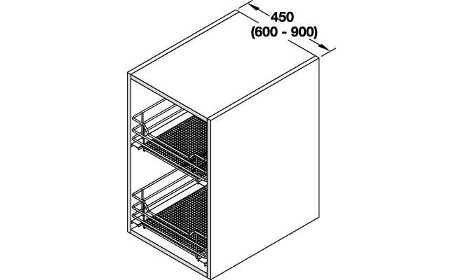 Cesti saphir modulo 900 mm per mobili estraibili cucina for Mobili 900 prezzi