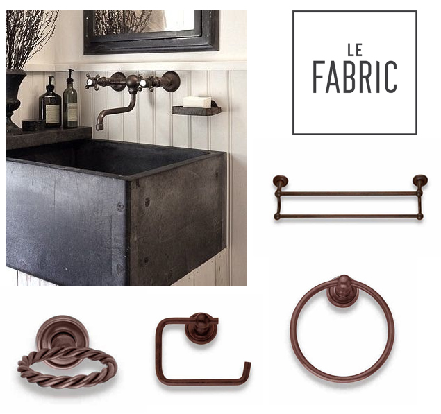 Arredobagno le fabric accessori per bagno country for Accessori x il bagno