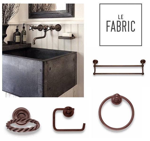 Arredobagno le fabric accessori per bagno country for Accessori arredo bagno