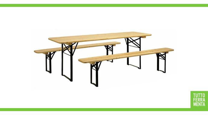 Gambe per tavoli e panche birreria accessori casa for Tavoli pieghevoli