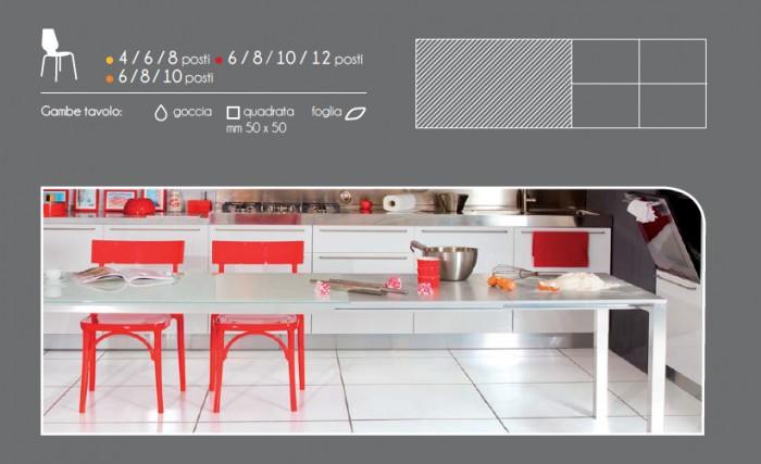 Tavolo per zona living fino a 10 posti tavolo more - Tavolo 14 posti ...