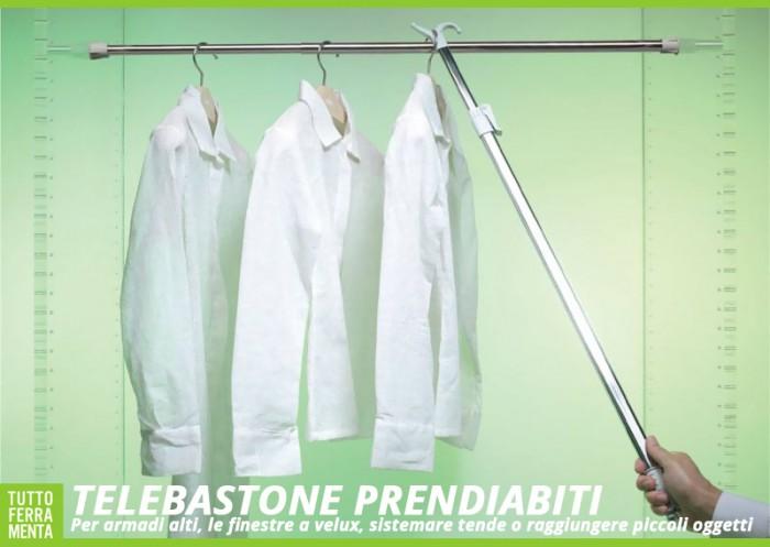 Bastone prendiabiti accessori casa tuttoferramenta for Velux tende ricambi