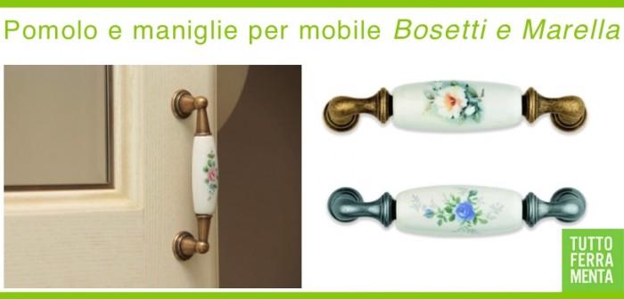 Maniglie per mobile in porcellana con decoro fiori - Le Fabric Design