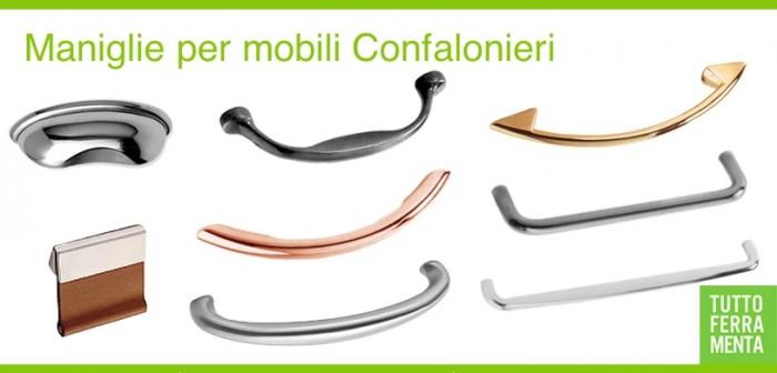 Maniglie per mobili Confalonieri - Tuttoferramenta.it