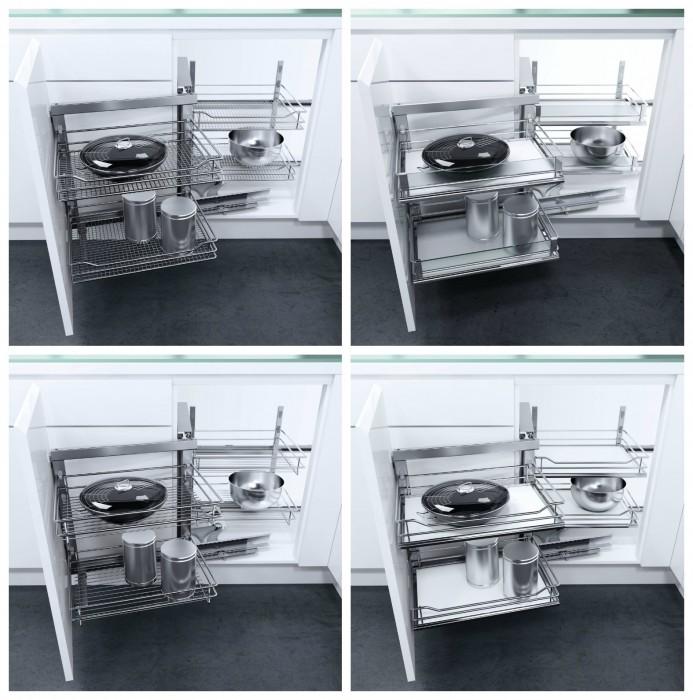 ... per cucina, sistemi angolari per mobili base, frontali estraibili e