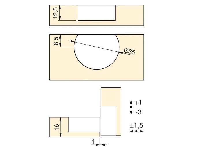 Cerniera per anta ribalta lunghezza 56 mm scodello for Scheda tecnica anta ribalta giesse